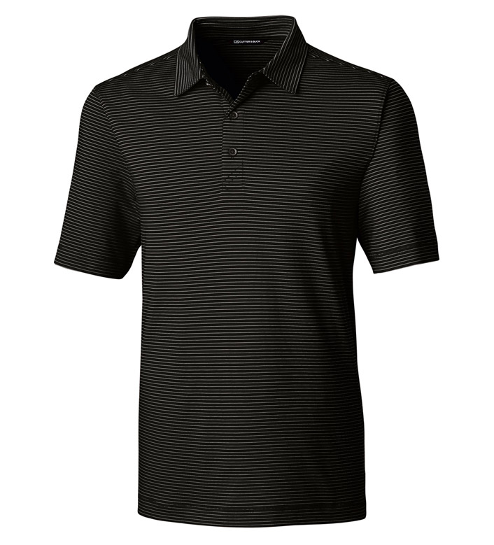 Cutter & Buck Forge Pencil Stripe Short Sleeve Polo Shirt