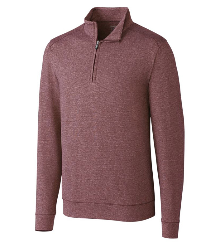 Cutter & Buck DryTec Shoreline Heathered Half-Zip Pullover