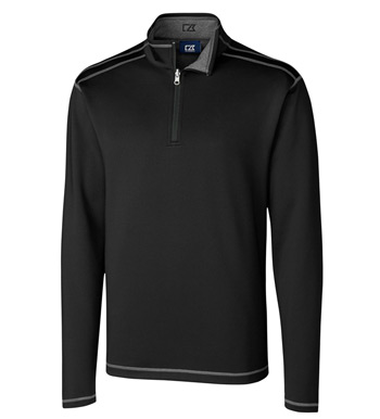 Evergreen Reversible Overknit Quarter-Zip Pullover