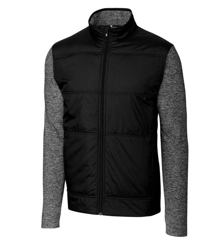 Cutter & Buck DryTec Stealth Full Zip Wind Knit