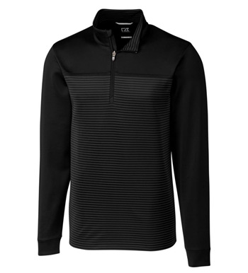 Traverse Stripe Interlock Half Zip Pullover