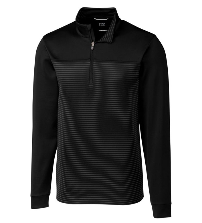 Cutter & Buck Traverse Stripe Interlock Half Zip Pullover
