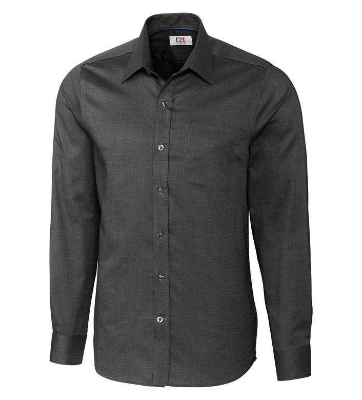 Cutter & Buck Tailored Fit Epic Nailshead Long Sleeve Sport Shirt