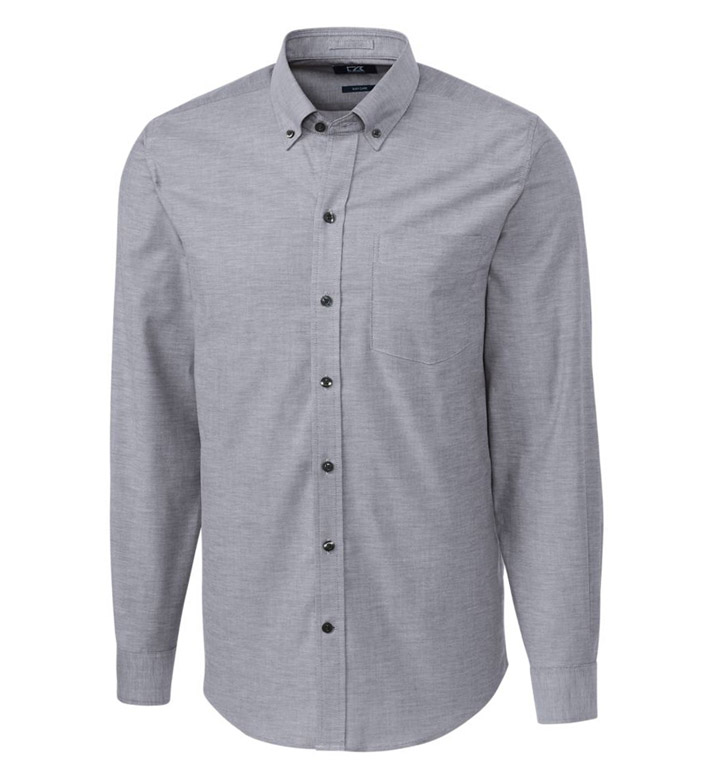 Cutter & Buck Tailored Fit Epic Stretch Oxford Long Sleeve Sport Shirt