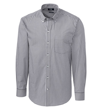 Easy Care Stretch Gingham Long Sleeve Sport Shirt