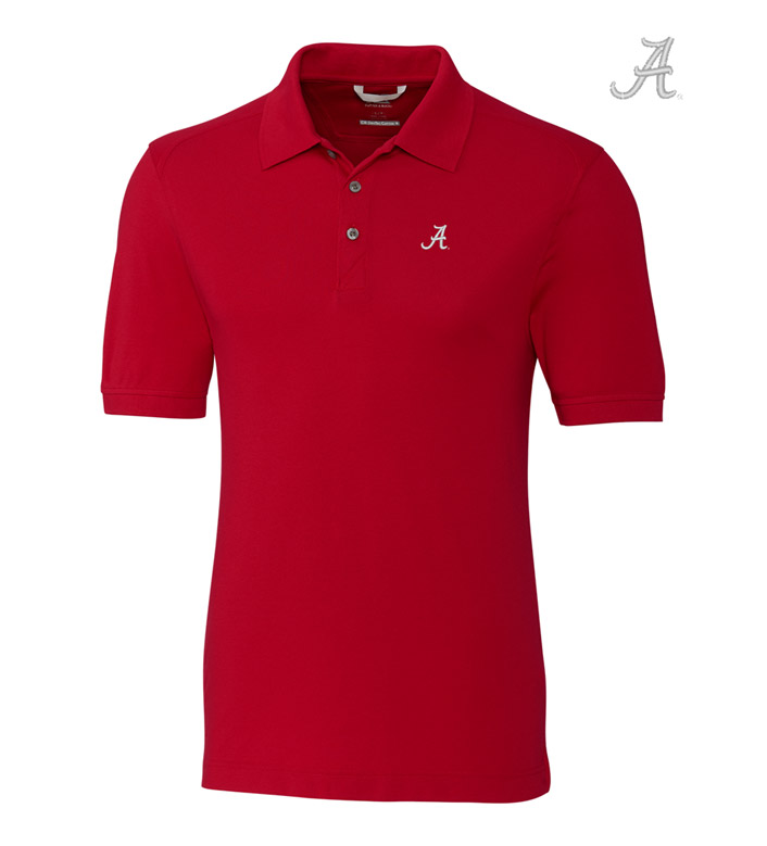 Cutter & Buck University of Alabama Cotton+ Advantage Short Sleeve Polo