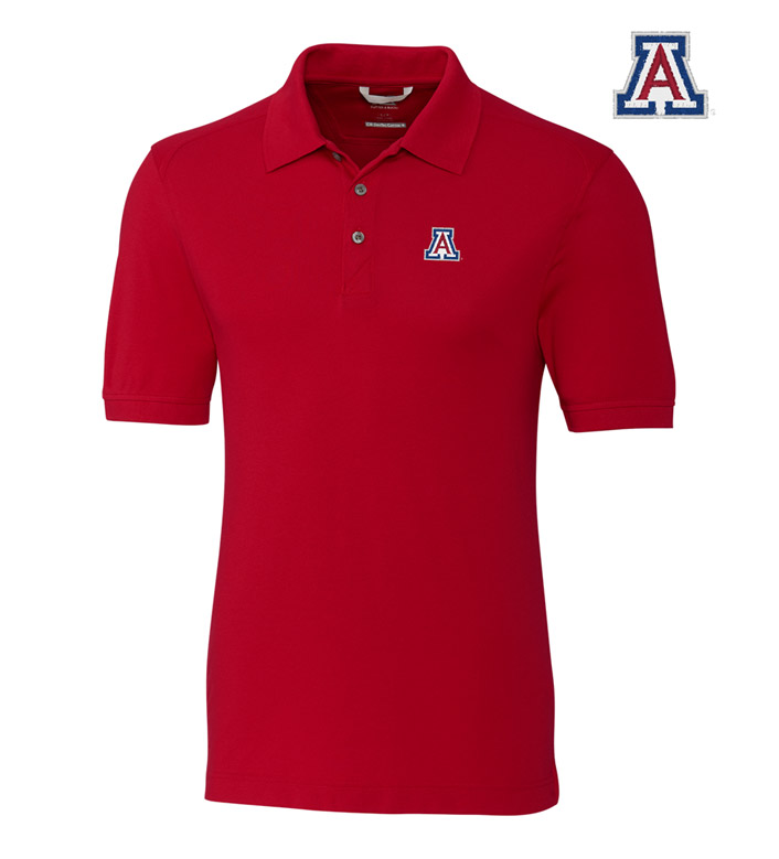 Cutter & Buck University of Arizona Cotton+ Advantage Short Sleeve Polo