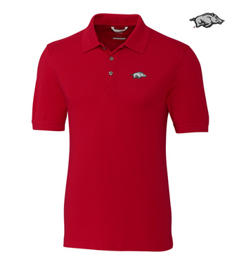 University of Arkansas Cotton+ Advantage Short Sleeve Polo