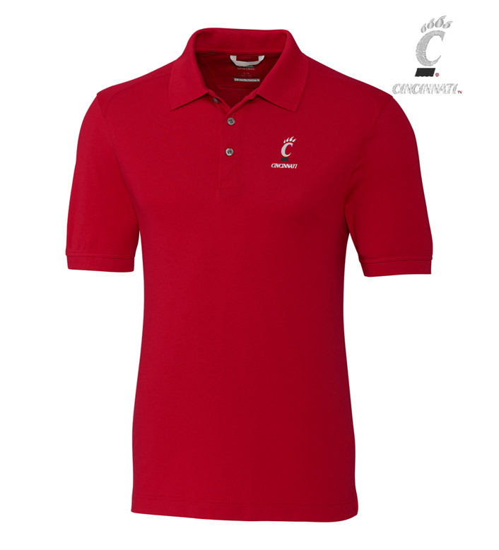 Cutter & Buck University of Cincinnati Cotton+ Advantage Short Sleeve Polo