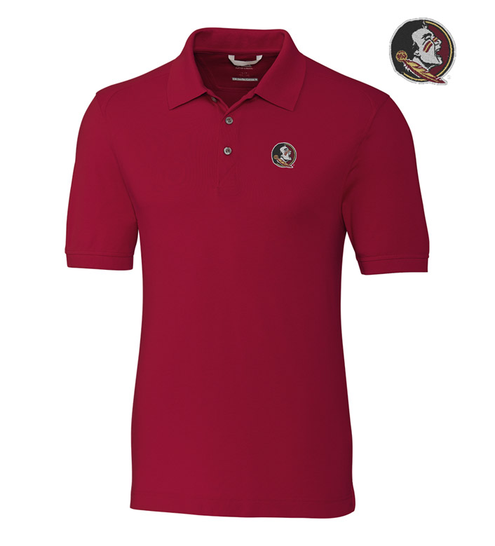 Cutter & Buck Florida State University Cotton+ Advantage Short Sleeve Polo