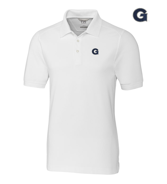 Cutter & Buck Georgetown University Cotton+ Advantage Short Sleeve Polo