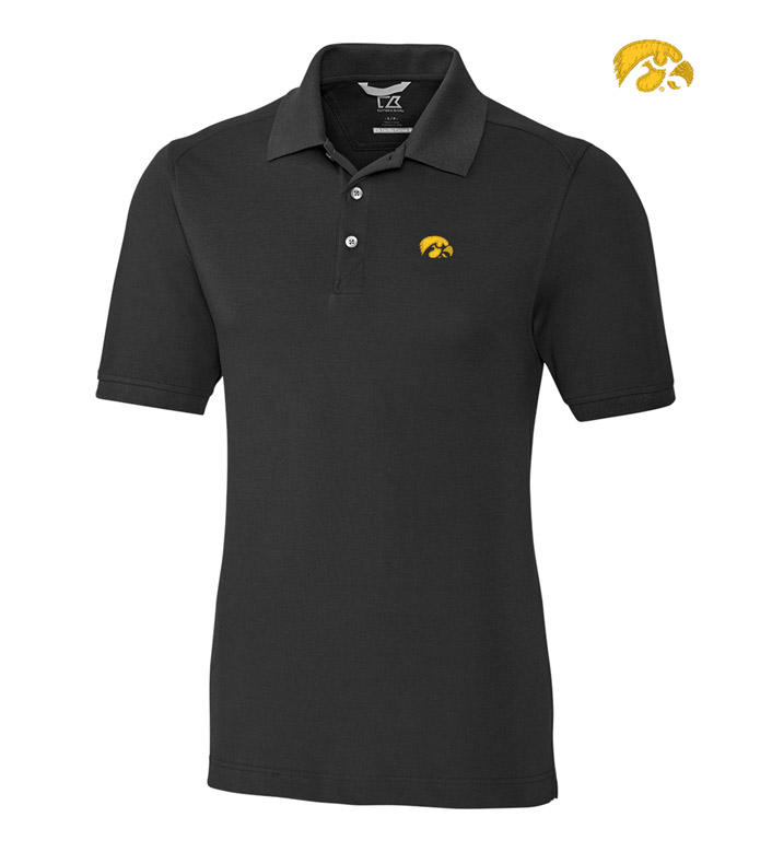 Cutter & Buck University of Iowa Cotton+ Advantage Short Sleeve Polo