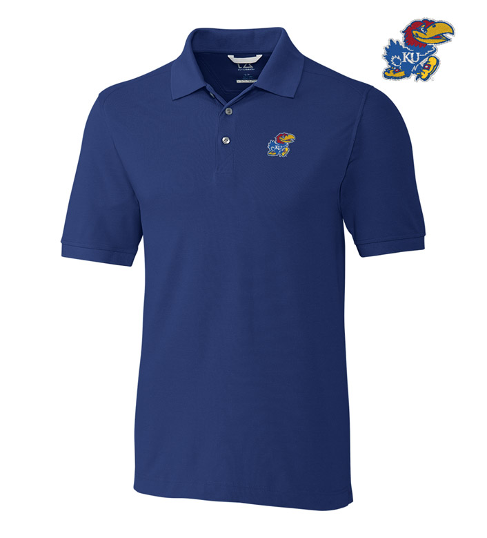 Cutter & Buck University of Kansas Cotton+ Advantage Short Sleeve Polo