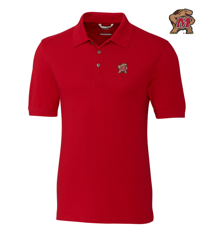 Cutter & Buck University of Maryland Cotton+ Advantage Short Sleeve Polo