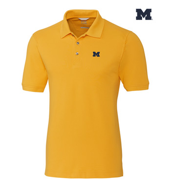 University of Michigan Cotton+ Advantage Short Sleeve Polo