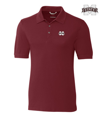 Mississippi State University Cotton+ Advantage Short Sleeve Polo