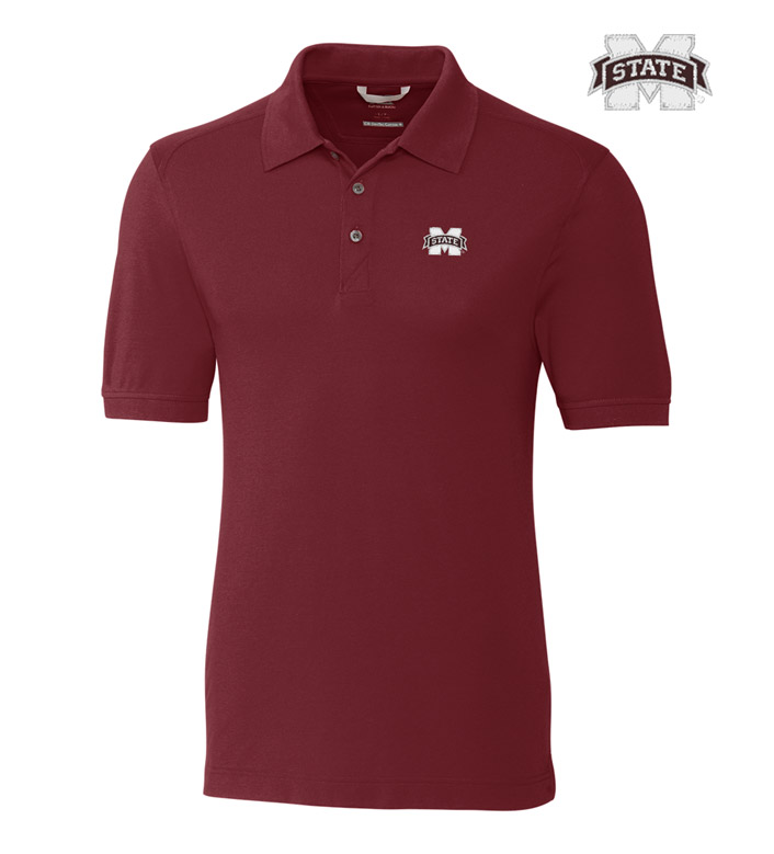 Cutter & Buck Mississippi State University Cotton+ Advantage Short Sleeve Polo