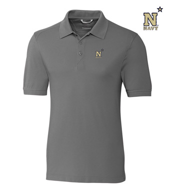 Navy Cotton+ Advantage Short Sleeve Polo
