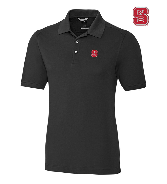 Cutter & Buck North Carolina State University Cotton+ Advantage Short Sleeve Polo