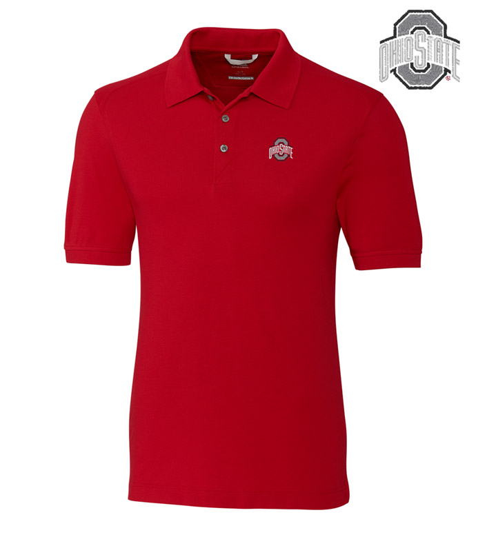 Cutter & Buck The Ohio State University Cotton+ Advantage Short Sleeve Polo