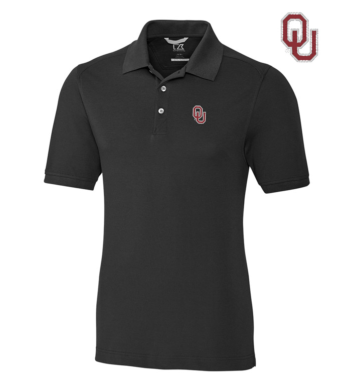 Cutter & Buck University of Oklahoma Cotton+ Advantage Short Sleeve Polo
