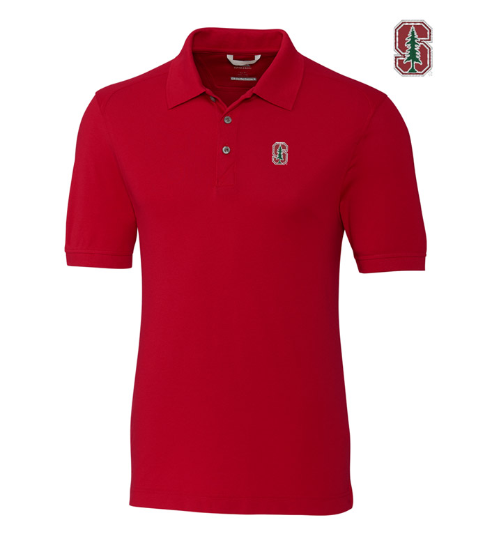 Cutter & Buck Stanford University Cotton+ Advantage Short Sleeve Polo