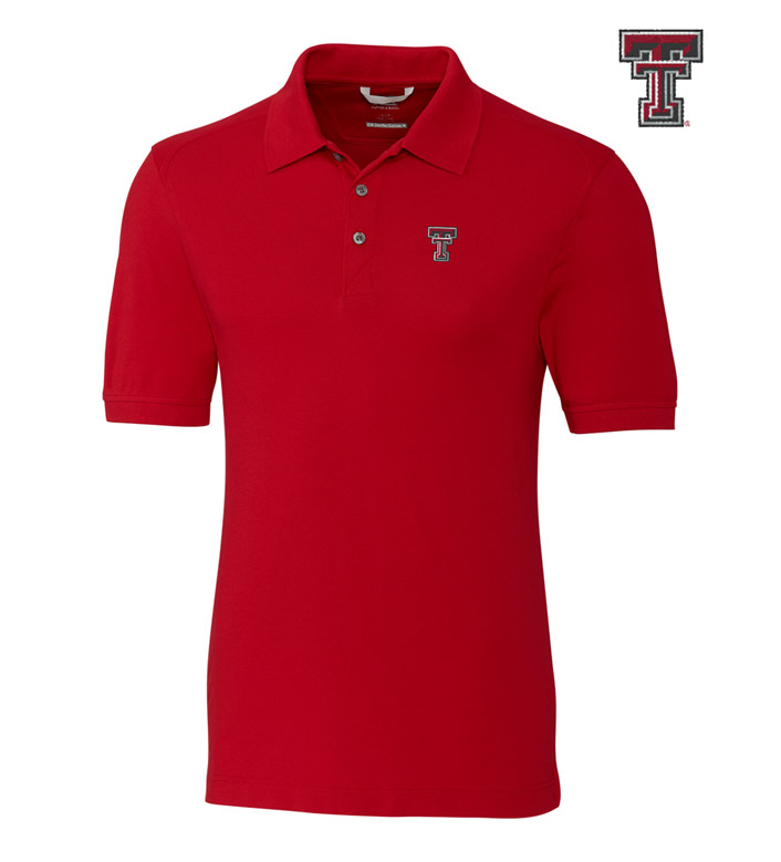 Cutter & Buck Texas Tech University Cotton+ Advantage Short Sleeve Polo