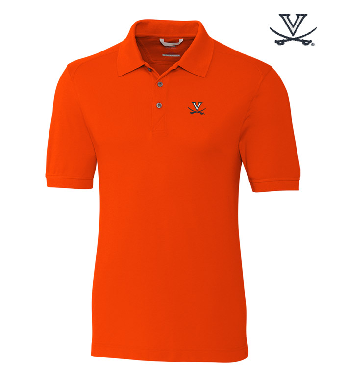 Cutter & Buck University of Virginia Cotton+ Advantage Short Sleeve Polo