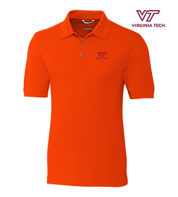 Virginia Tech Cotton+ Advantage Short Sleeve Polo