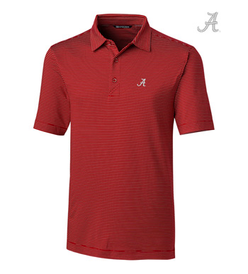 University of Alabama Stripe Short Sleeve Polo