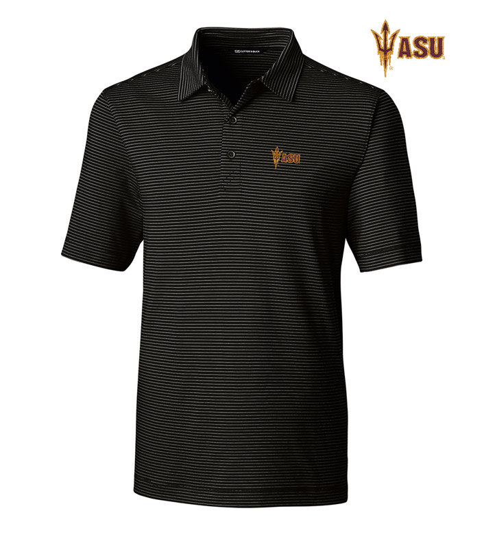 Cutter & Buck Arizona State University Stripe Short Sleeve Polo