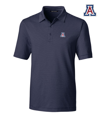 University of Arizona Stripe Short Sleeve Polo