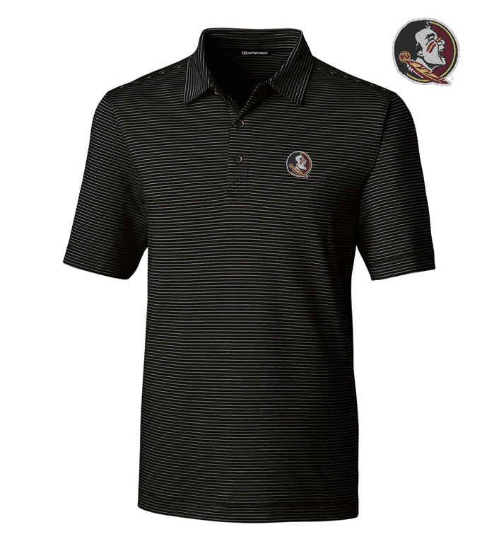 Cutter & Buck Florida State University Stripe Short Sleeve Polo