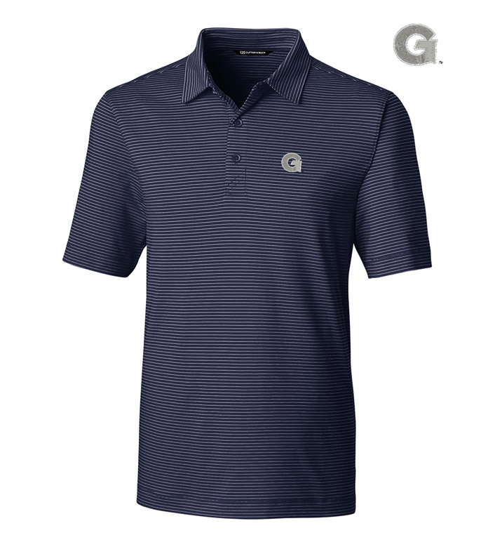 Cutter & Buck Georgetown University Stripe Short Sleeve Polo
