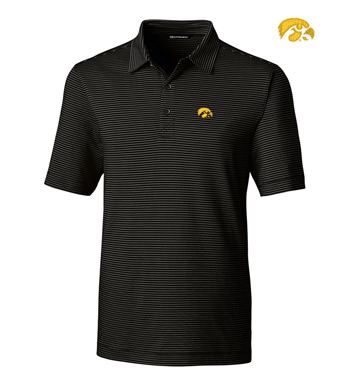 University of Iowa Stripe Short Sleeve Polo