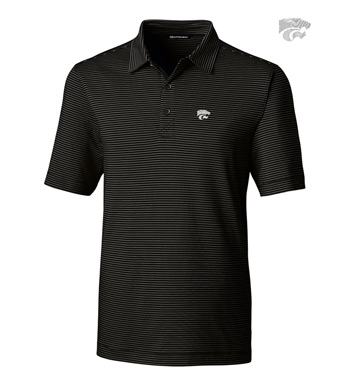 Kansas State University Stripe Short Sleeve Polo