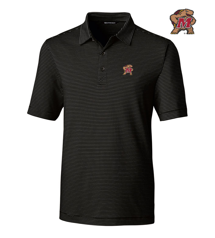Cutter & Buck University of Maryland Stripe Short Sleeve Polo