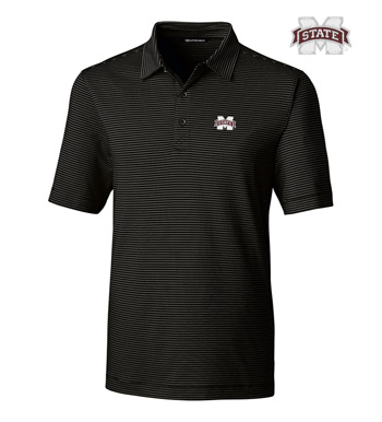 Mississippi State University Stripe Short Sleeve Polo