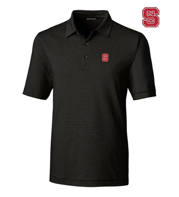 North Carolina State University Stripe Short Sleeve Polo