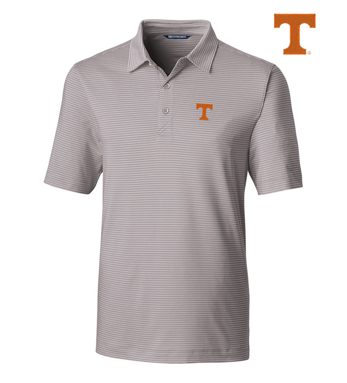 Cutter & Buck University of Tennessee Stripe Short Sleeve Polo