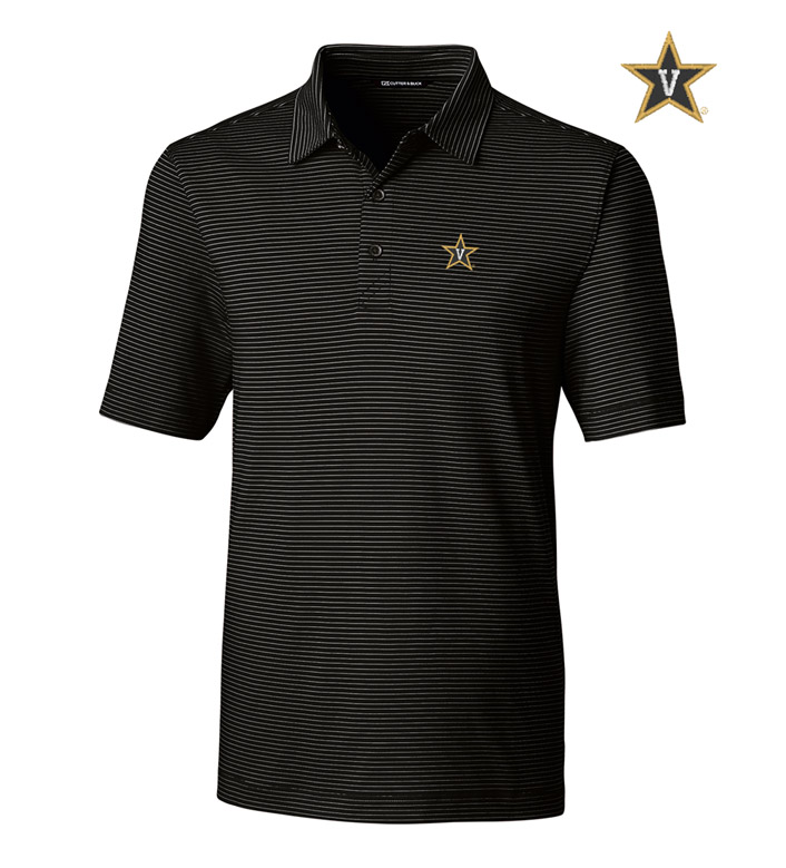 Cutter & Buck Vanderbilt University Stripe Short Sleeve Polo