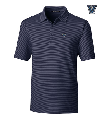 Villanova University Stripe Short Sleeve Polo