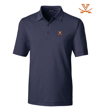 University of Virginia Stripe Short Sleeve Polo