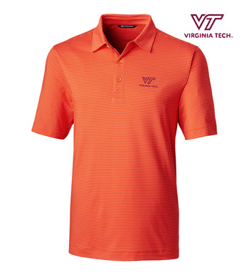 Virginia Tech Stripe Short Sleeve Polo