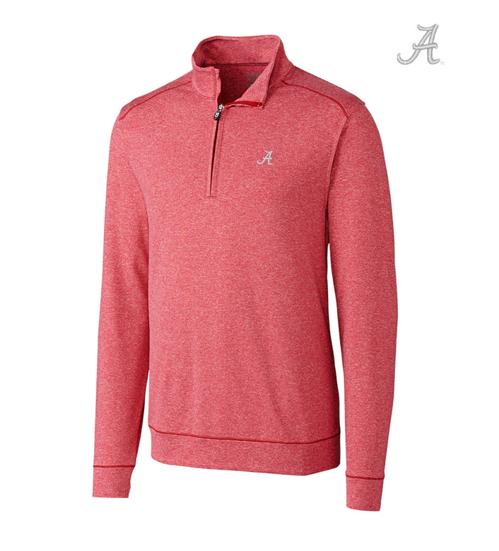 Cutter & Buck University of Alabama DryTec Stretch Jersey Half-Zip Pullover