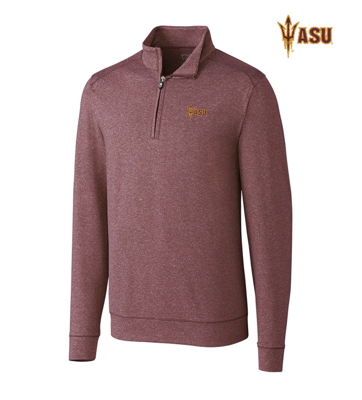 Cutter & Buck Arizona State University DryTec Stretch Jersey Half-Zip Pullover