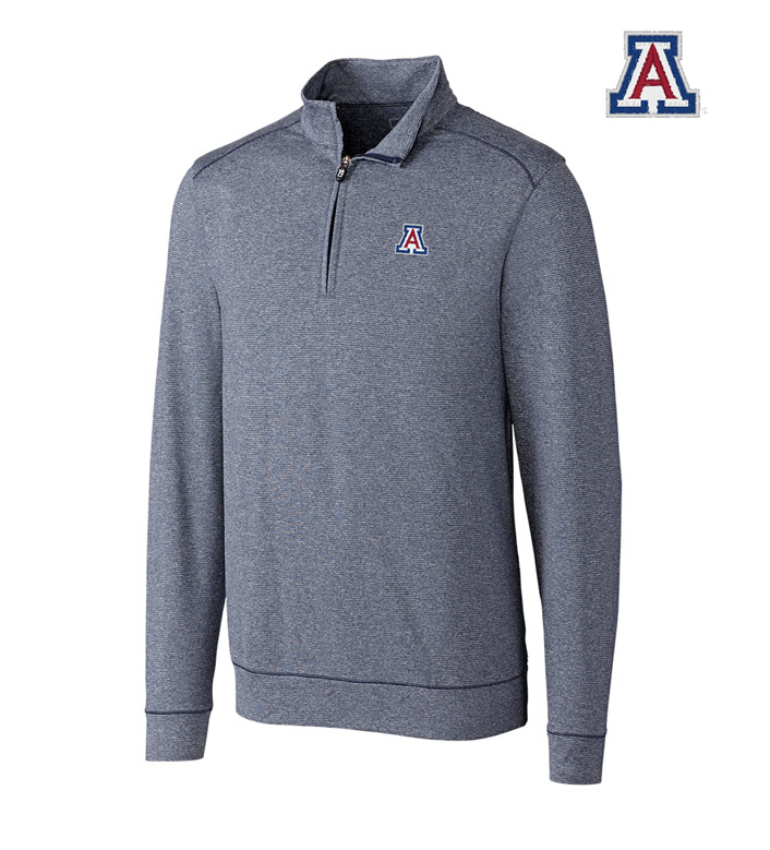 Cutter & Buck University of Arizona DryTec Stretch Jersey Half-Zip Pullover