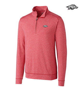 University of Arkansas DryTec Stretch Jersey Half-Zip Pullover