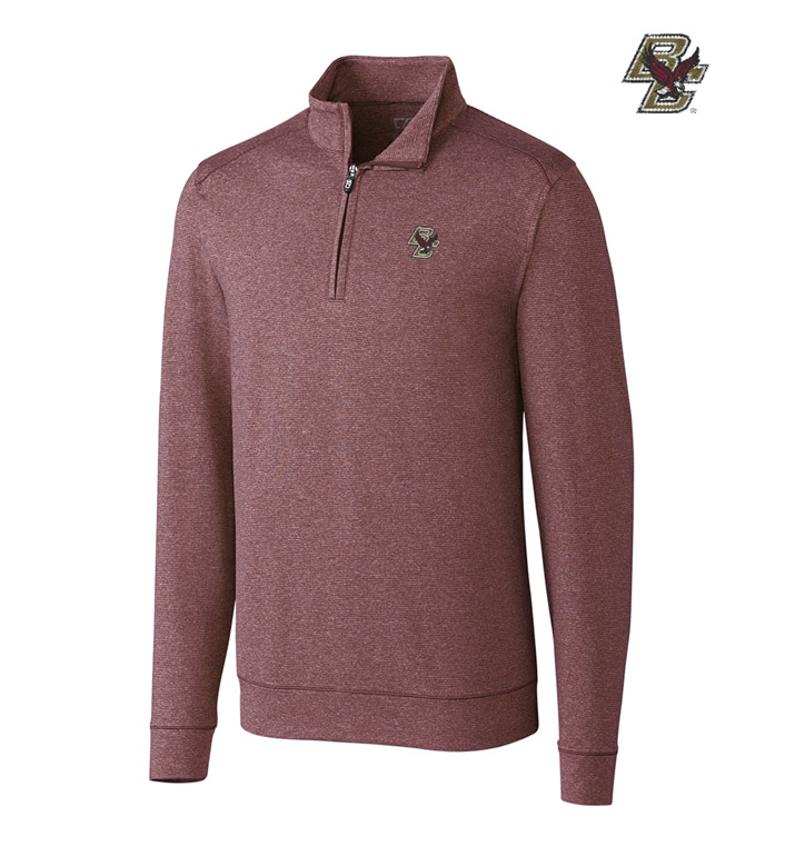 Cutter & Buck Boston College DryTec Stretch Jersey Half-Zip Pullover