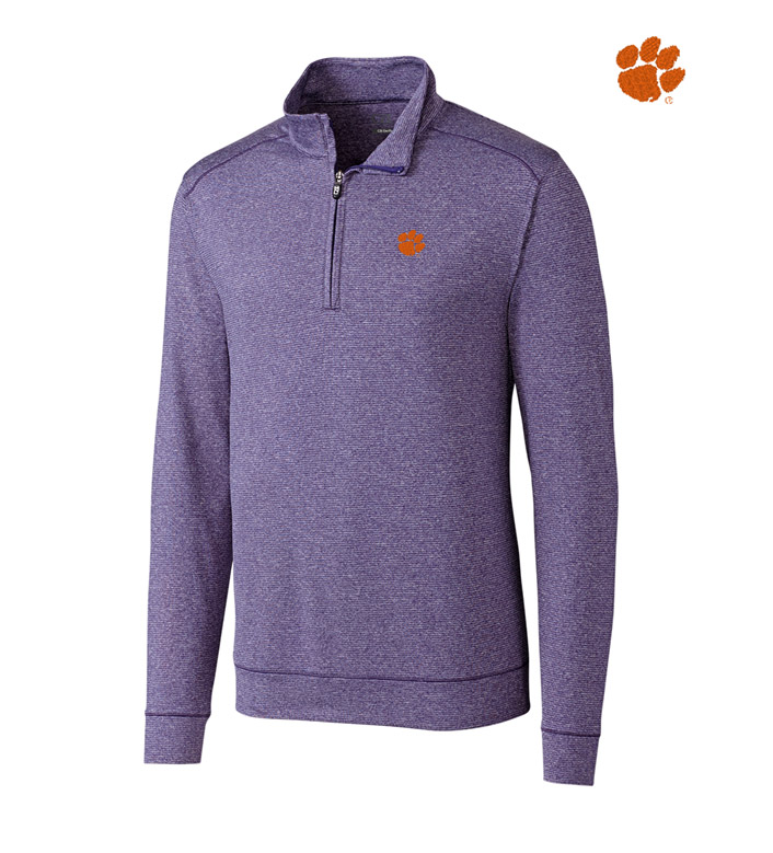 Cutter & Buck Clemson University DryTec Stretch Jersey Half-Zip Pullover